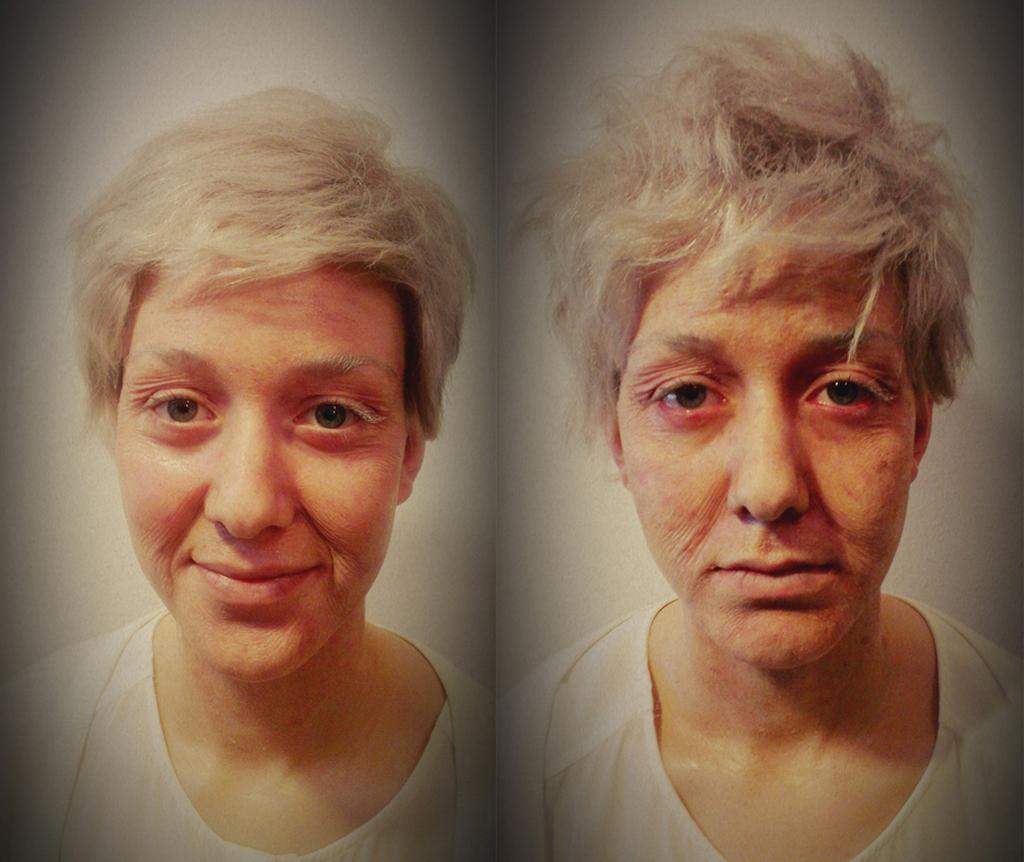 Hans! Der Film zur App Altschminke Links: Gesunde alte Frau Rechts: Kranke alte Frau Special FX: Anna P.